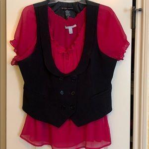Black vest to dress up any shirt
